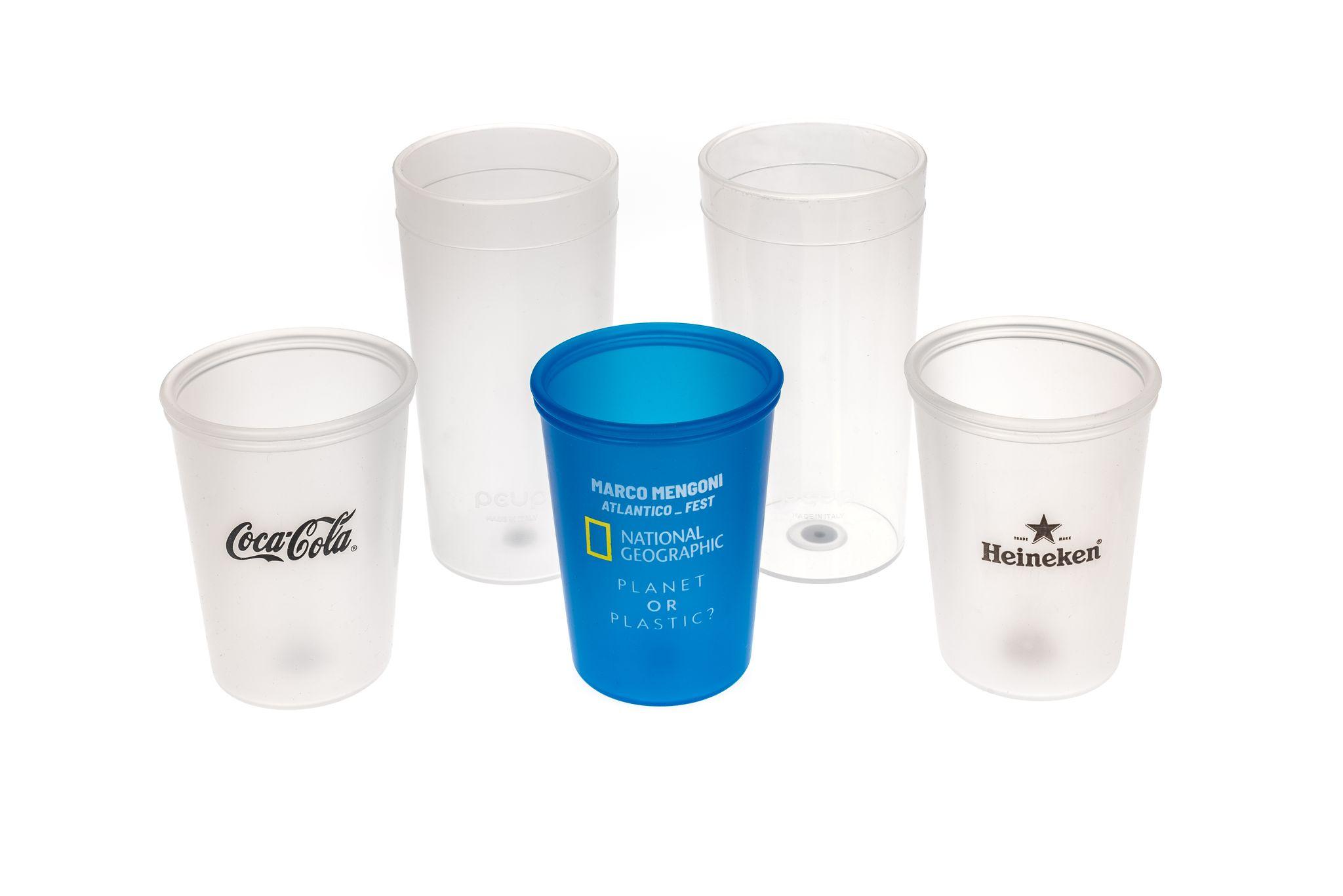 Simast: bicchieri personalizzati. Prodotti in materiale plastico per la gastronomia.